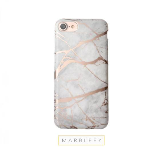 Rose Marble Phone Case, Rose Gold Reflective,iphone 6 case, iphone 7 case, iPhone 8 case, iphone 7 plus case, iPhone X case, iphone 8 plus