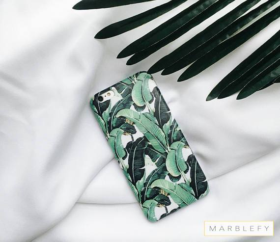 Banana leaf Phone Case, Banana leaves, Tropical, Palm leaf, iPhone 6 , iPhone 6 plus, iPhone 7, iPhone 7 Plus case, summer ,green