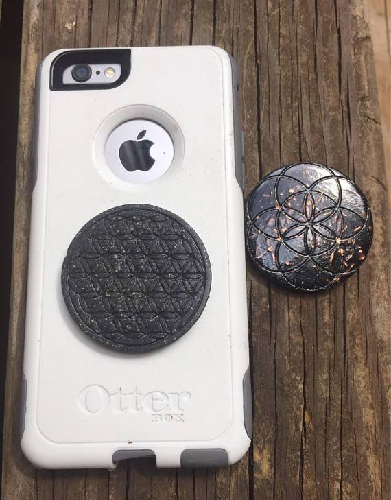 Orgonite® Orgone Cell phone - EMF Protection- Shungite, Quartz, Nuummite, Copper, Sacred Geometry, Charged in the Total Solar Eclipse