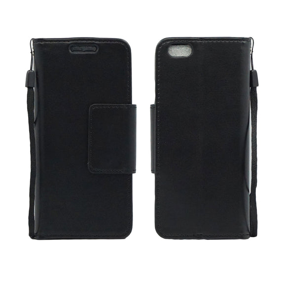 IPhone 6 / 6S Plus Folio Leather Wallet Pouch Case Cover Black