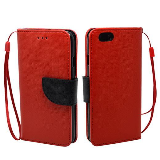 IPhone 6 / 6S Leather Wallet Pouch Case Cover Red