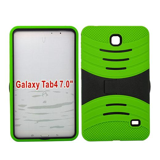 Samsung Galaxy Tab 4 7.0 / T230 Hybrid Silicone Case Cover Stand Green