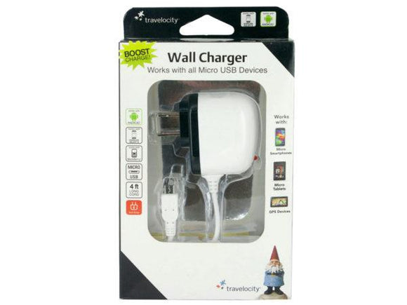 Travelocity White Micro USB Wall Charger