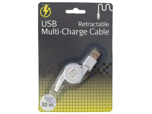 iPhone Retractable USB Multi-Charge Cable