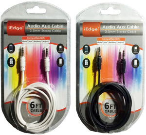 6Ft Audio Auxiliary Cable Case Pack 12