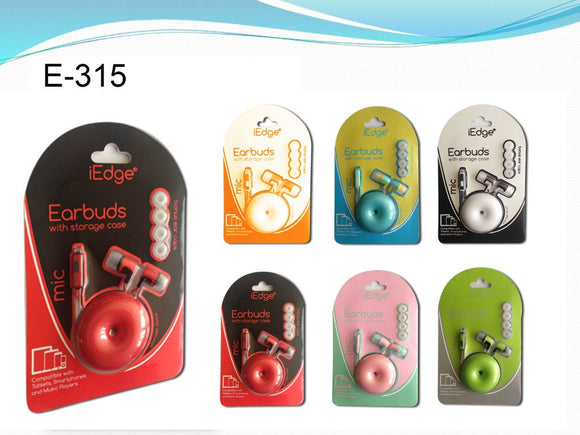 Storage Donut Earphone with Mic & Earcaps Case Pack 48
