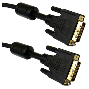 DVI-D Dual Link Cable with Ferrite Bead, Black, DVI-D Male, 2 meter (6.6 foot)
