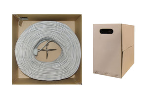 Cable Wholesale Bulk Cat5e Gray Ethernet Cable, Stranded, UTP (Unshielded Twisted Pair), Pullbox, 1000 foot