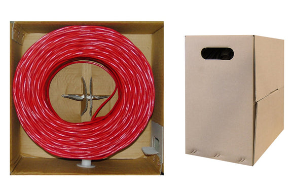 Offex Wholesale CAT5E, UTP, Bulk Cable, Stranded, 350MHz, 24 AWG, Red, 1000 ft