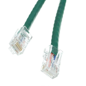 Cable Wholesale Cat5e Green Ethernet Patch Cable, Bootless, 25 foot