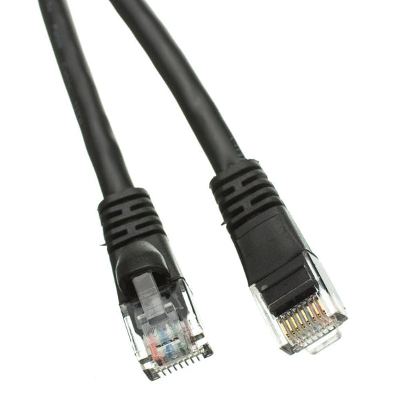 Cable Wholesale Cat6 Black Ethernet Patch Cable, Snagless/Molded Boot, 75 foot