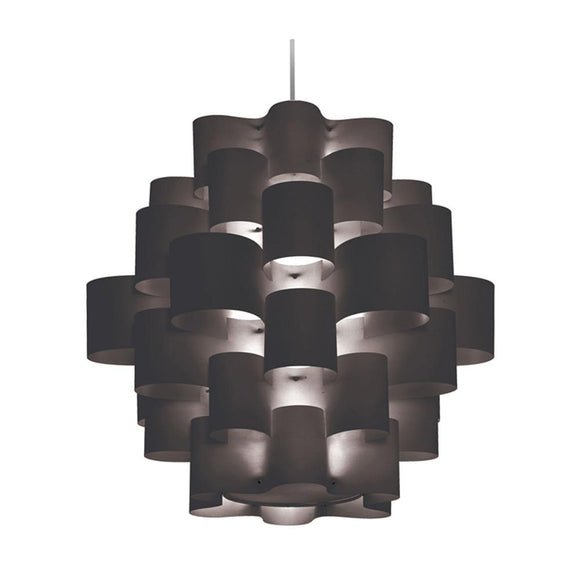 9 Light Zulu Pendant Black