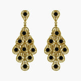 Onxy Filigree Chandelier Earrings