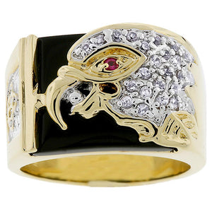Cubic Zirconia Eagle Men's Ring Size 10