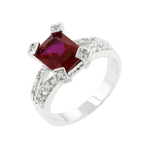 Ruby Cubic Zirconia Fashion Ring Size 9