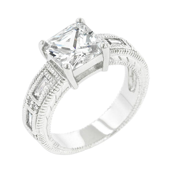Clear Cubic Zirconia 5-Stone Ring Size 8