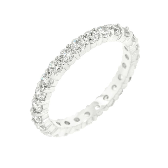 Cubic Zirconia Eternity Band Size 9