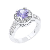 Lavender Halo Engagement Ring Size 10