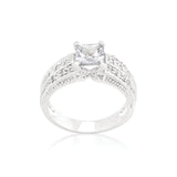 Cubic Zirconia Princess Cut Ring Size 9