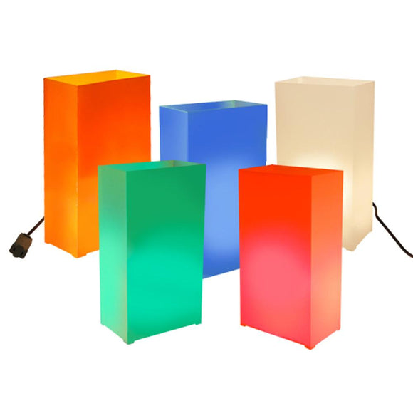 Electric Luminaria Kit- Multi Color- 10 Count