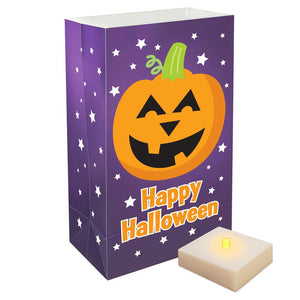LumaLite Luminaria Kit- Pumpkin- 6ct