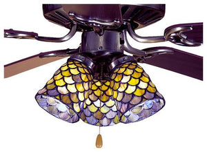 "4""W Tiffany Fishscale Fan Light Shade-Gyb/Jp"