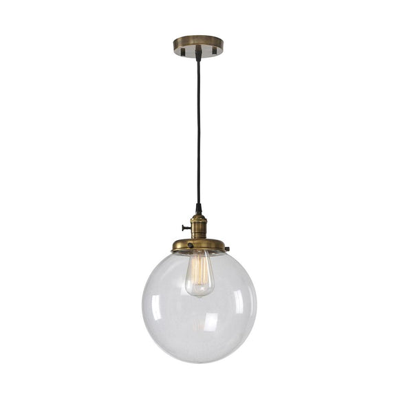 Ren-Wil Antonio Pendant Ceiling Fixture Antique Brass Small
