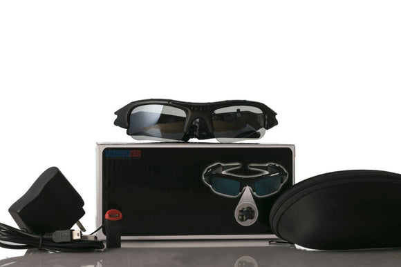 Spy Camcorder Eye-wear Sunglasses w/ MicroSD Card Slot
