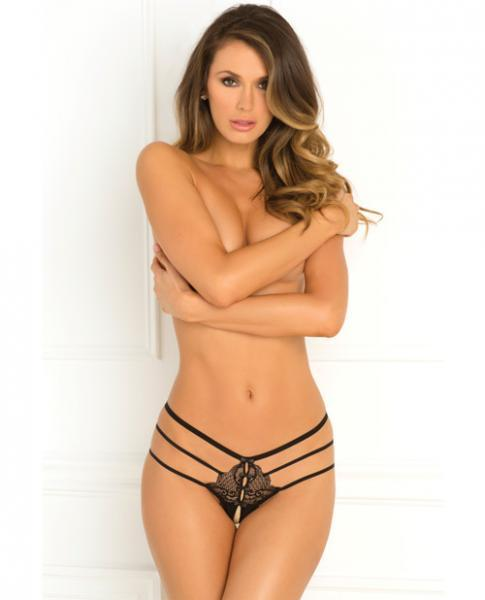 Rene Rofe Wanted & Wild Crotchless Panty Black S/M
