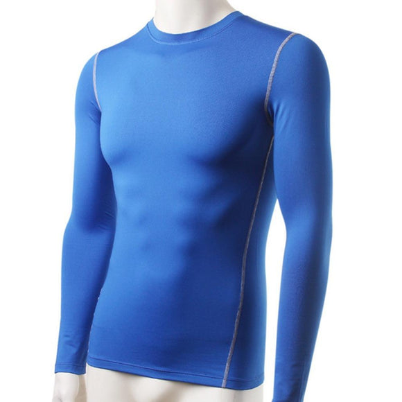 Men Plush Base Layer Thermal Underwear Long Sleeve Winter Undershirt T Shirt Tops