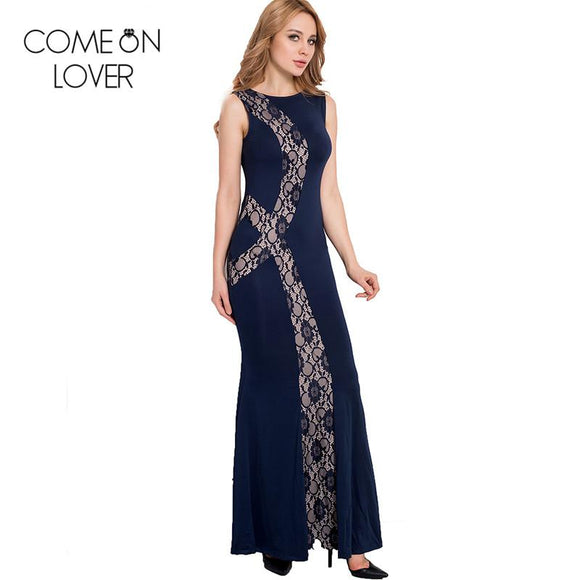 RE80054 Comeonlover High quality floor-length solid maxi dress new summer plus size sexy dress club wear hot women long dress
