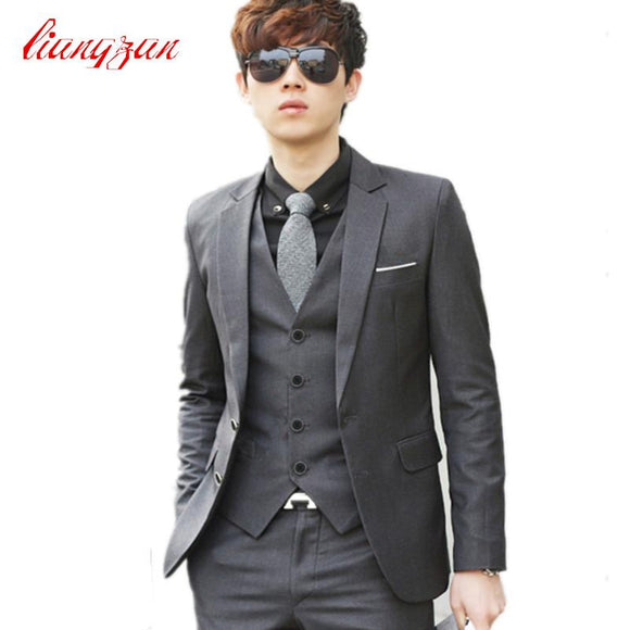 Men Wedding Suit Sets Formal Fashion Slim Fit Business Dress Suits Blazer Brand Party Masculino Suits Clothes (Jacket+Pant+Tie)