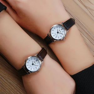 Luobos Small Dial Quartz Leather Women Watch New Fashion Hot Sale Watches Ladies Simple Style Silver Wristwatch Relogio Feminino