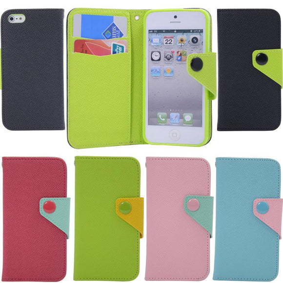 New PVC Wallet Pouch Soft Skin Case Cover For iPhone 5/5s/se