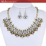 Brightly Hot Sales Maxi Statement Collar Necklaces Luxury Crystal Rhinestones Pendants Necklaces for Women Wedding Dress