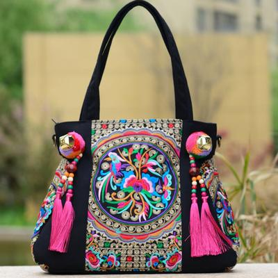 ... National Trend Chinese Ethnic Embroidery Canvas Bag Hmong Boho Thai  Tassel Embroidered Bags Luxury Famous Brand ceb98837203cb