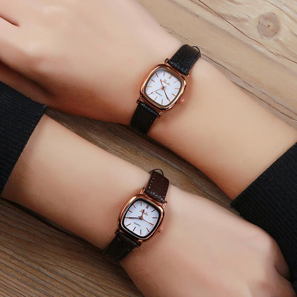 Luobos Small Dial Women Watch Fashion Casual Leather Quartz Wrist Watches Ladies Hot Sale Simple Style Watched Relogio Feminino