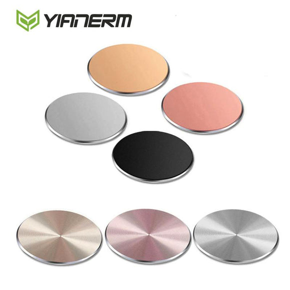 Yianerm 32*32mm Metal Plate Magnetic Car Phone Holder Accessories Use For Magnet Phone Stand