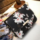 Vogue Star Spring new elegant quality pu leather handbag women bag spray daffodil butterfly stamp sweet girl little square LS459