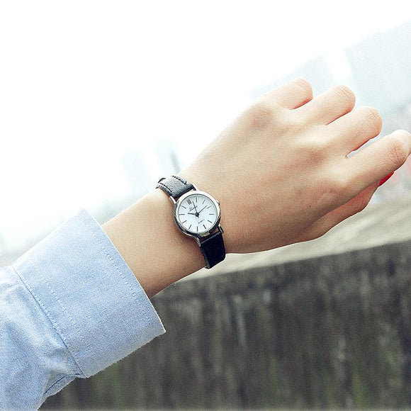 Luobos Small Dial Fashion Women Watch Casual Leather Quartz Watches Simple Style Hot Sale Elegant Ladies Wristwatch Clock 2017