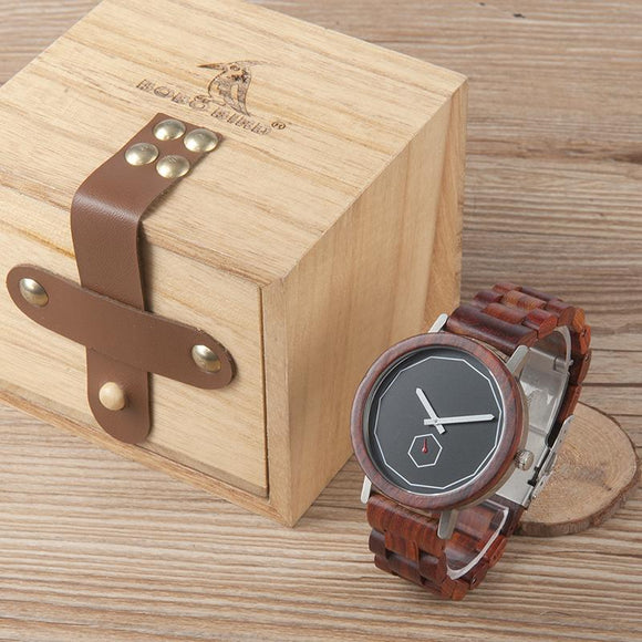 2017 New Arrival BOBO BIRD Watch Men Wooden Watches with Wood Band Quartz Movement Wristwatch relogio masculino B-M29