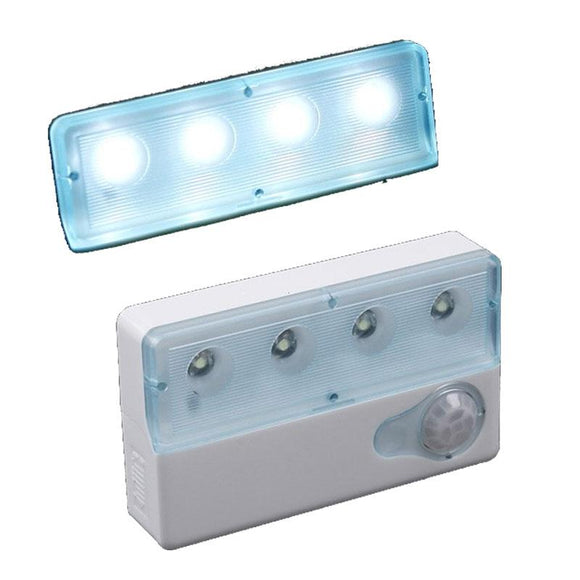 Portable LED Infrared PIR Auto Sensor Motion Detector Light Lamp Dual-window Infrared Sensors Night Light