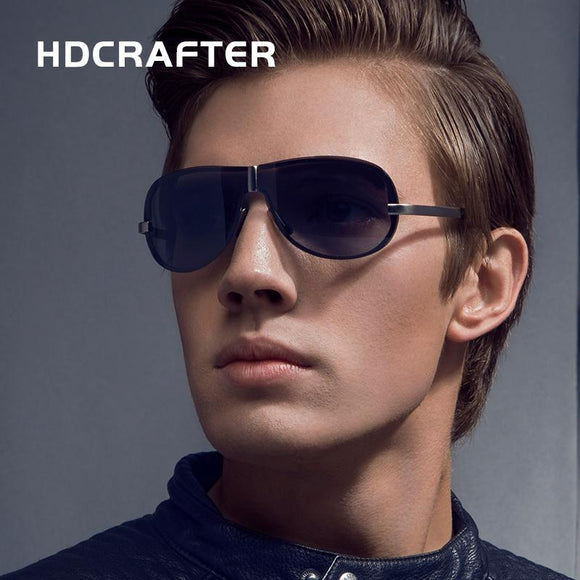 HDCRAFTER Brand Rimless Fashion Cool Sunglasses Polarized 100% UV400 protection