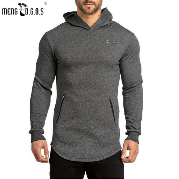 2017 gyms Hoodie Clothes Bodybuilding Sweatshirt Warm Clothing Shark zipper conventional Cotton Sweatshirts Pullover