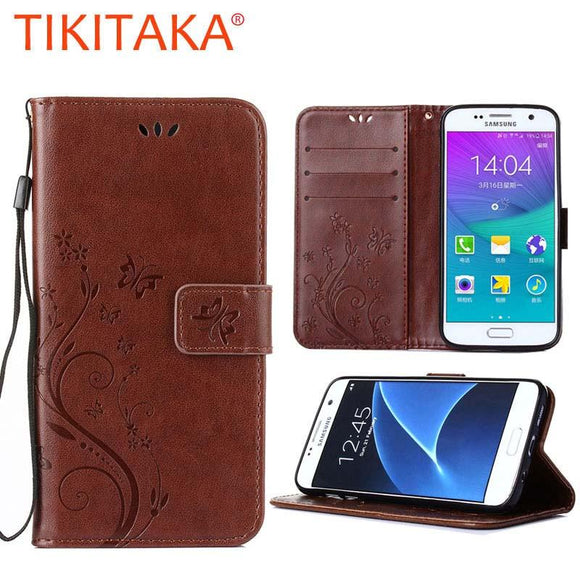 Luxury Leather Flip Case For Samsung Galaxy S3 S4 S5 Mini S6 S7 Edge A3 A5 2016 J1 J3 J5 Note 5 4 Retro Emboss Wallet Cover