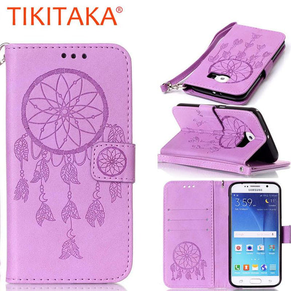 Dreamcatcher Vintage Flip Leather Case For Samsung Galaxy S7 S6 edge A3 A5 J3 J5 J7 2016 S5 S4 S3 mini Grand Prime Cover