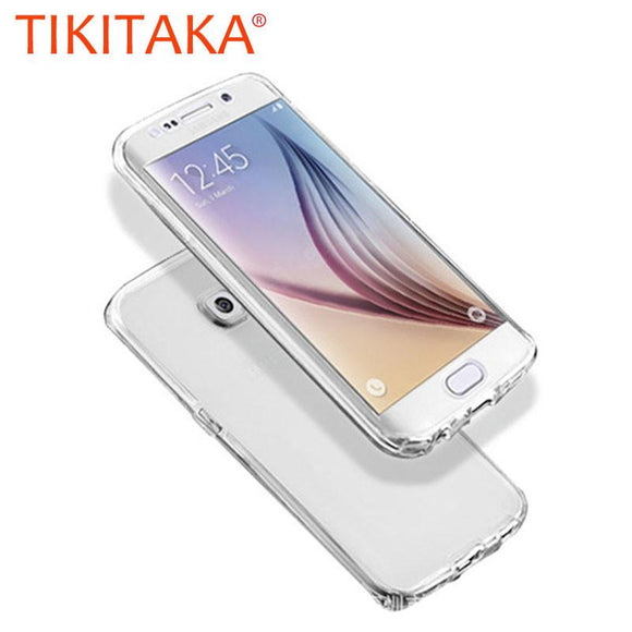 J3 J5 J7 Cover Clear TPU Case For Samsung Galaxy S7 S6 edge S5 S4 Note 5 4 3 Ultra thin Soft Gel 360 Full Body Phone Cases