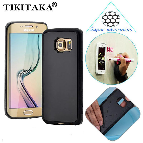 S6 S7 Anti-gravity Phone Case For Samsung Galaxy S6 S7 edge Plus Note 5 Anti gravity Nano Suction Cover Adsorbed Hard Shell Case