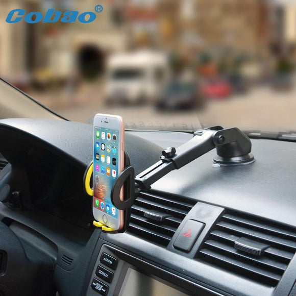 Mobile Phone Car Mount Bracket Holder Stand 360 Degrees Rotation Universal Cars Windshield Long Arm Smartphone Cars Holder