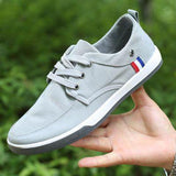 CBJSHO New Fashion 2017 Breathable Canvas Mens Shoes Lace-Up Solid Flats Spring Autumn Quality Casual Denim Canvas Shoes For Men
